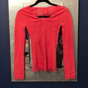 Robert Cavalli pink long sleeve top size small